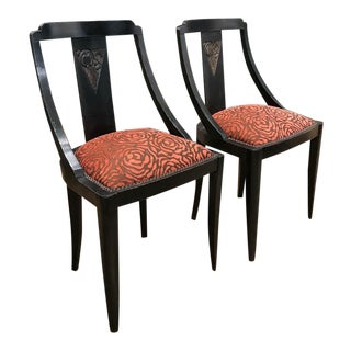 Art Deco Biedermeier Inspired Chairs - a Pair