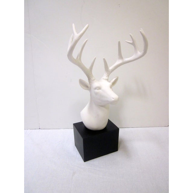 Faux White Reindeer Deer Antlers Bookshelf Decor - Image 2 of 11
