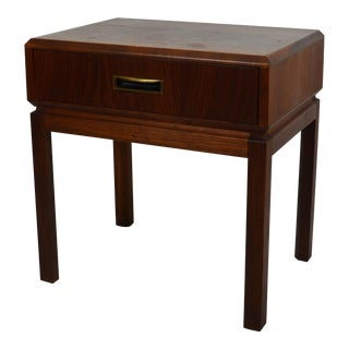 1960s Mid Century Modern Founders Furniture Co. Walnut Nightstand For Sale