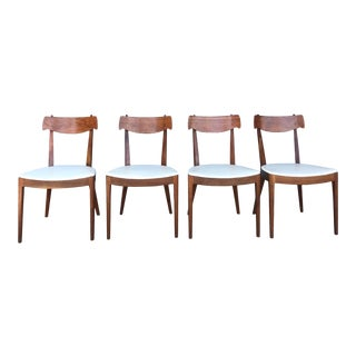 Mid-Century Modern Kip Stewart Drexel Declaration Dining Chairs - Set of 4 For Sale