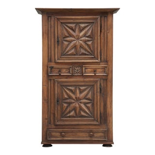 Antique French Bonnetiere or Petite Armoire For Sale