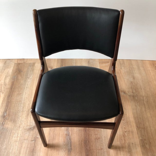 1960s 1960s Vintage Rosewood Dining Chairs by Erik Buch (Model 89) - Set of 4 For Sale - Image 5 of 13