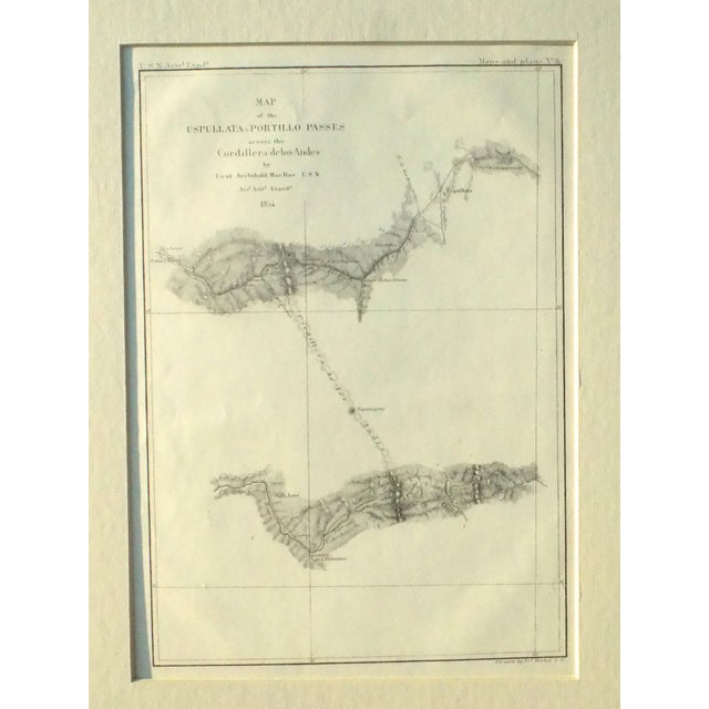 Santiago, Chili Uspullata & Portillo Passes, 1855 Map For Sale - Image 4 of 8