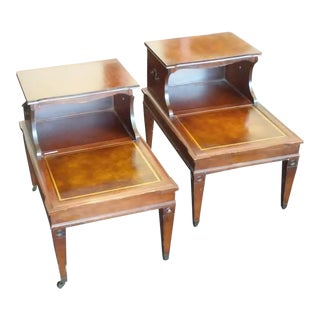 Vintage Step Tables - A Pair For Sale