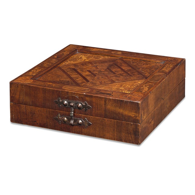 Remarkable condition and craftsmanship distinguish this 17th-century German games box. Most likely created in southern...