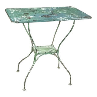 Antique Iron Garden ~ Cafe Table For Sale