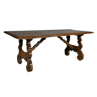 Spanish Colonial Style Walnut Coffee Table