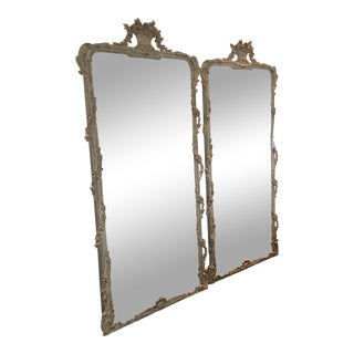Carvers Guild Panier De Fleur Mirrors - A Pair For Sale