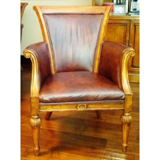 Traditional Style Lane Furntiure Wooden Bergere Chair