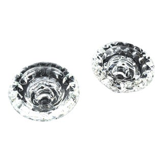 1980s Kall Glass Candle Holders- a Pair For Sale