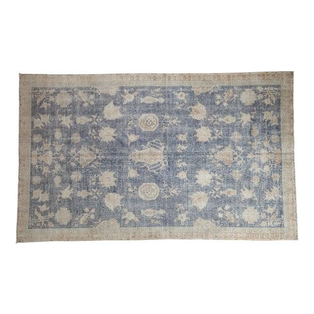 "Vintage Distressed Fragment Sparta Carpet - 5'7"" X 9'1"" For Sale"
