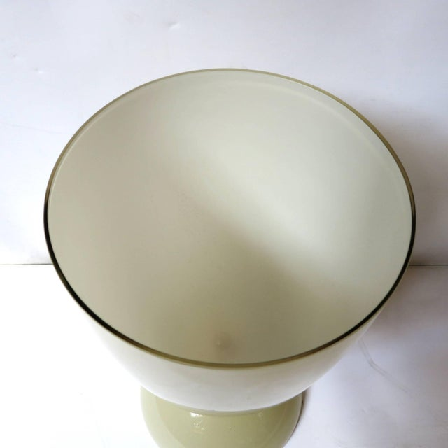 Early 21st Century Mustard and Gold Infused Murano Glass Urn or Vase by Fabio Ltd (2 Available) For Sale - Image 5 of 8