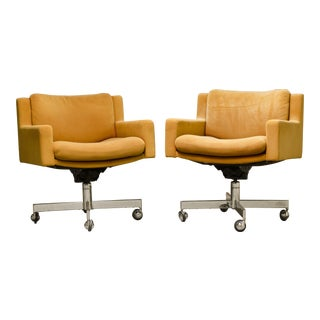 Robert Haussmann for De Sede Executive Swivel Armchairs - A Pair