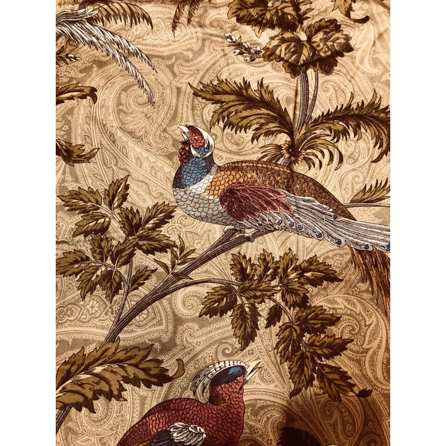 Beautiful country style fabric with birds and trees. There are 4 pieces available each piece is 1.75 yards Total of 5.5 yards