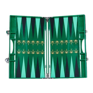 Casacarta Lacquered Backgammon Set - Leaf