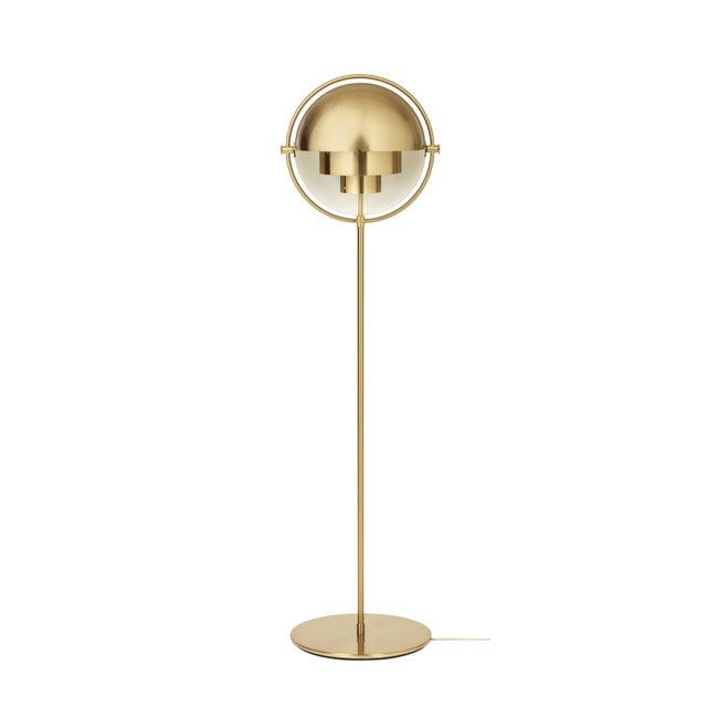 Modern Brass Multi-Light Floor Lamp, Louis Weisdorf For Sale - Image 3 of 6