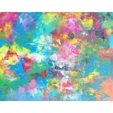 Image of Summertime Colorful Abstract Painting For Sale