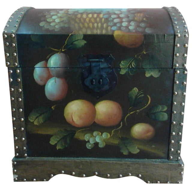 Hand-Painted Storage Chest - Image 1 of 7