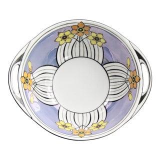 Noritake Hand Painted Art Deco Lusterware Handled Bowl For Sale