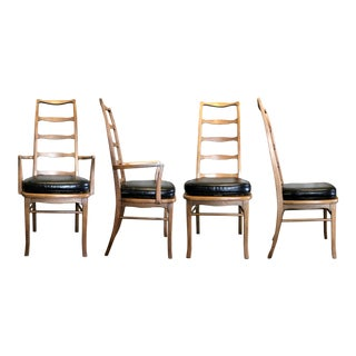 Vintage Mid Century Danish Ladder-Back Chairs- Set of 4 For Sale