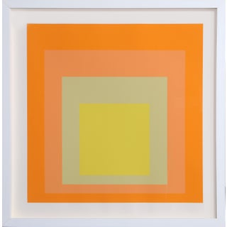 "Josef Albers, ""Interaction of Color: Homage to the Square, Exhibition at Goethe House"", Minimalist Screenprint For Sale"