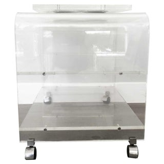 20th Century Italian 2 Tier Acrylic and Metal Waterfall Media Stand Preview