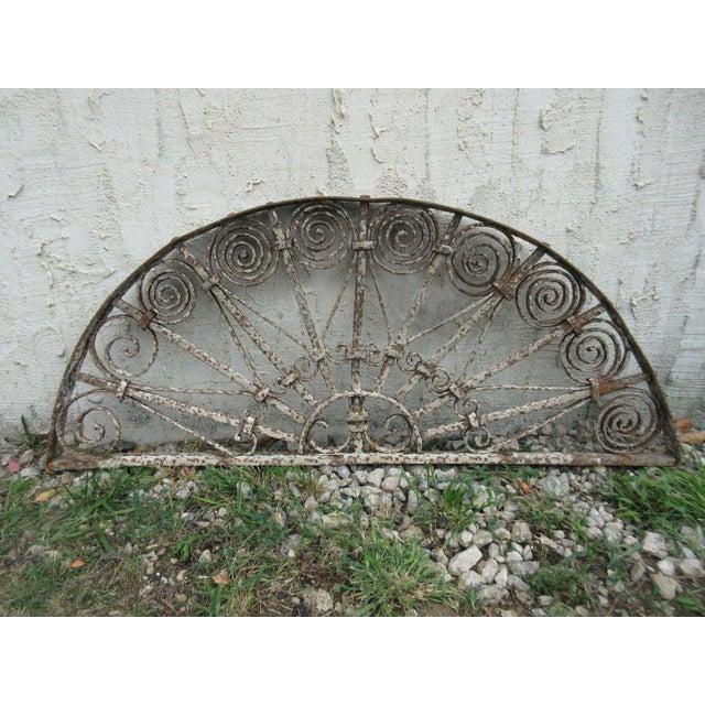 Antique Victorian Iron Garden Gate Window - Image 2 of 6