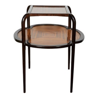French Zebrawood Table a Dessert Attr. Maurice Dufrène For Sale