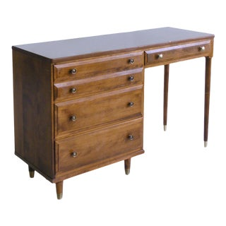 British Colonial Baumritter (Ethan Allen) Maple Writing Desk For Sale
