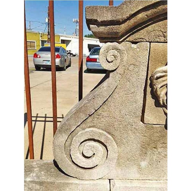 French Hand Carved Limestone Wall Fountain For Sale - Image 3 of 5