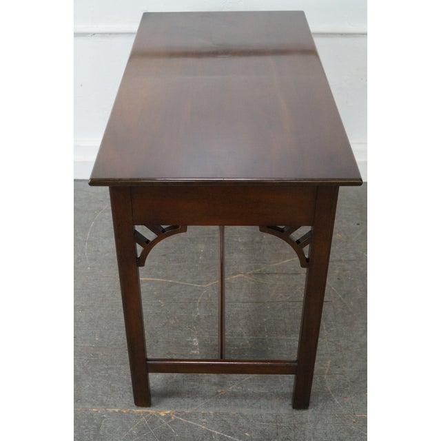Chippendale Kittinger Colonial Williamsburg Adaptation Mahogany Chippendale Writing Desk For Sale - Image 3 of 10