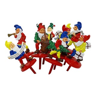 Midcentury Elf Cake Toppers, Set of 9 For Sale