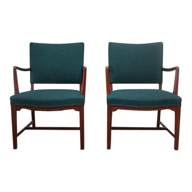 Pair of Danish Modern Teak Armchairs after Kaare Klint - Image 1 of 10