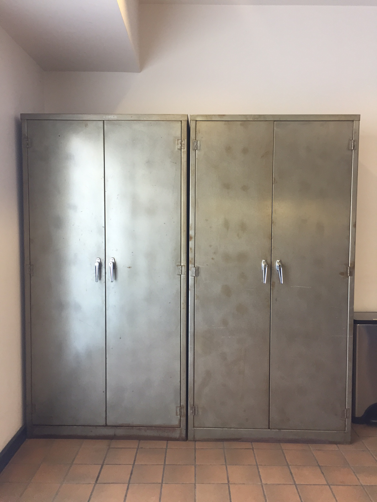 vintage metal storage cabinet. A Pair Of Tall Vintage Metal Storage Cabinets For Sale. The Outside The  Cabinet C