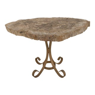 Post-War Design Petrified Wood Table For Sale