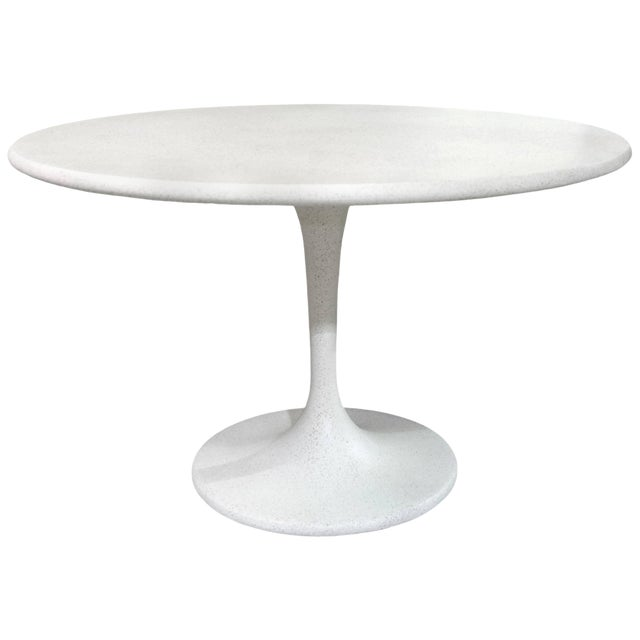 Cast Resin 'Spindle' Dining Table, White Stone Finish by Zachary A. Design For Sale