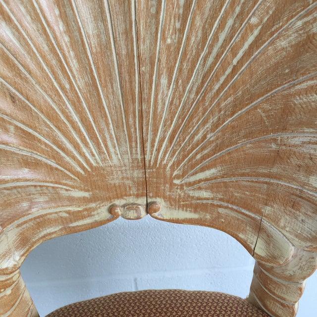 Textile Italian Venetian Shell Grotto Vanity Desk Chair For Sale - Image 7 of 11
