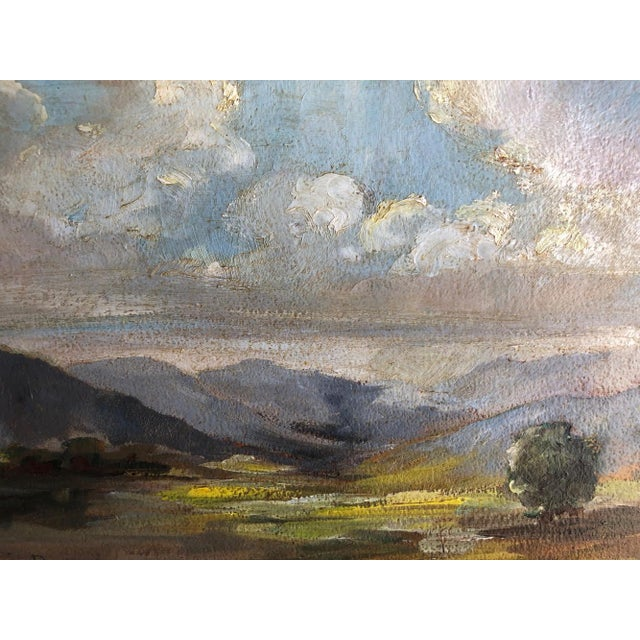 1920s Olivia D Pennington Countryside Landscape Oil on Canvas Signed Painting For Sale - Image 4 of 8
