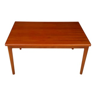 1960's Danish Modern Teak Extendable Dining Table For Sale