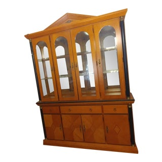 1999 Oriental Sandalwood Buffet and Hutch