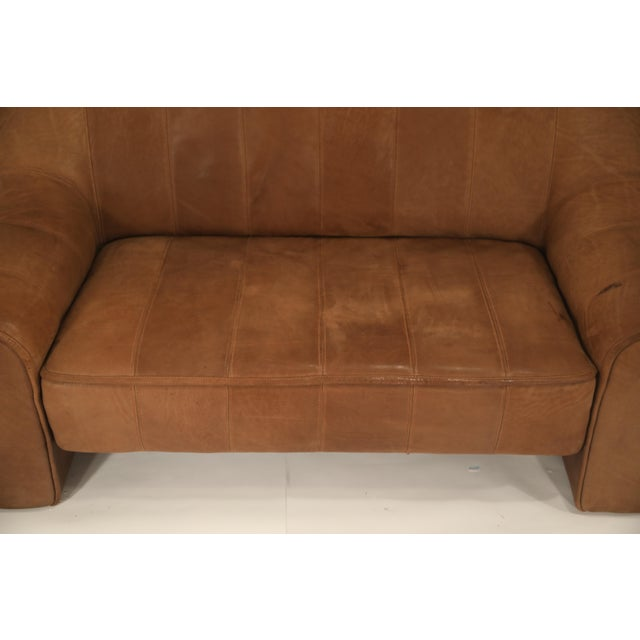 Leather De Sede Aged Buffalo Leather Ds-44 Adjustable Loveseat Sofa, 1970s For Sale - Image 7 of 13