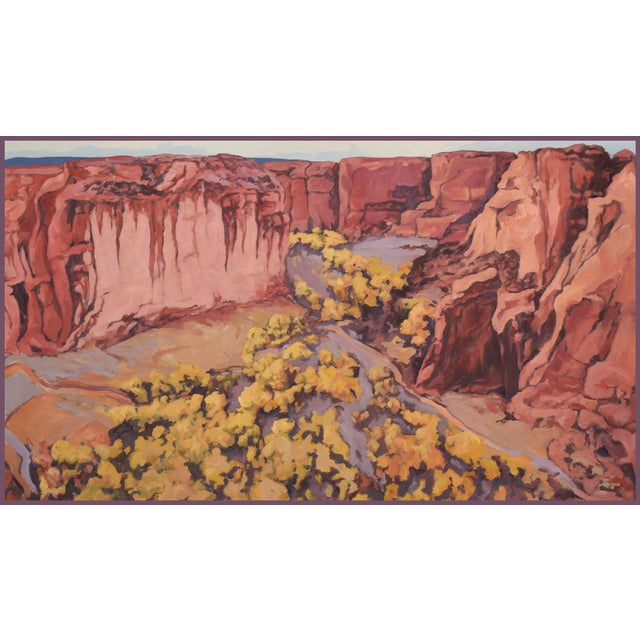 'Canyon De Chelly 1' Painting From the Red Rock Canyons Series by Contemporary Expressionist George Brinner For Sale
