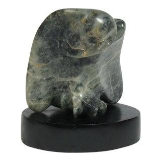 Mid-Century Marble Owl Sculpture