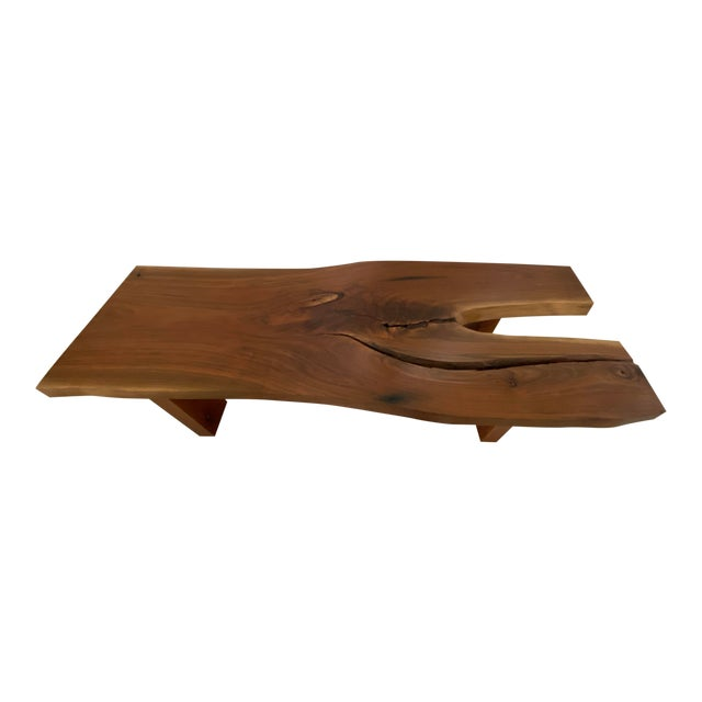 Handcrafted Live Edge Teak Slab Bench Or Coffee Table Chairish