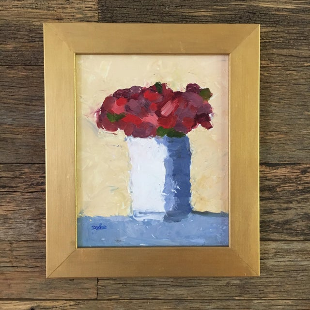 Red Roses Still Life Oil Painting - Image 2 of 6