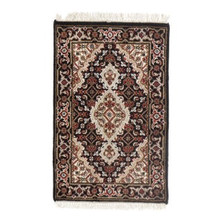 "Traditional Pasargad N Y Tabriz Design Hand-Knotted Rug - 1'4"" X 2'"