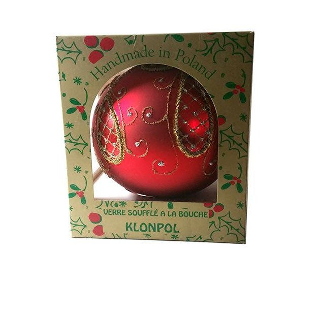 Red and Gold Hand Made Polish Tree Ornament - Image 6 of 6