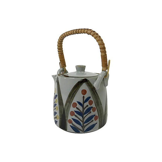 Late 20th Century Hand Painted Japanese Teapot For Sale - Image 4 of 7