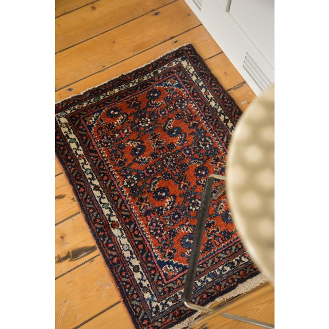 "Vintage Persian Engelas Rug Mat - 2' X 2'6"" For Sale - Image 4 of 7"