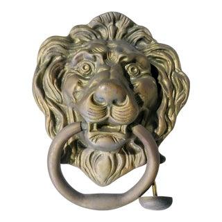 Vintage Brass Huge Lion Head Door Knocker
